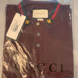 GUCCI MEN POLO SHIRT NEW WITH TAGS SMALL